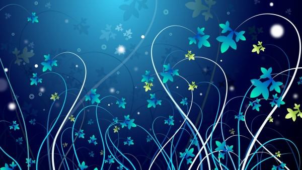 Векторные картинки цветов на синем фоне