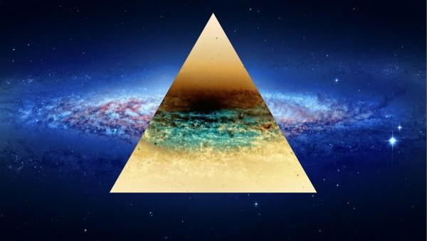 2560x1600, Треугольник и космос обои для рабочего стола
