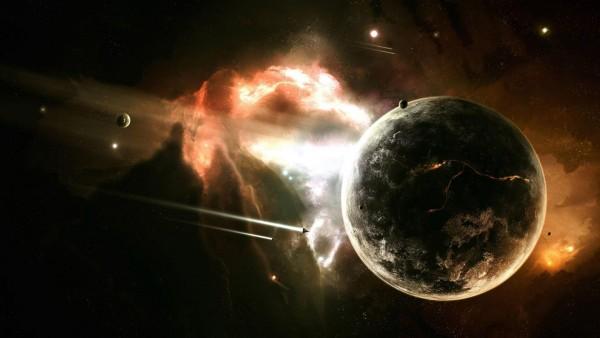 Яркие звезды в космосе