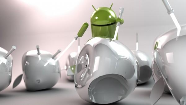 Андроид против apple прикольные картинки