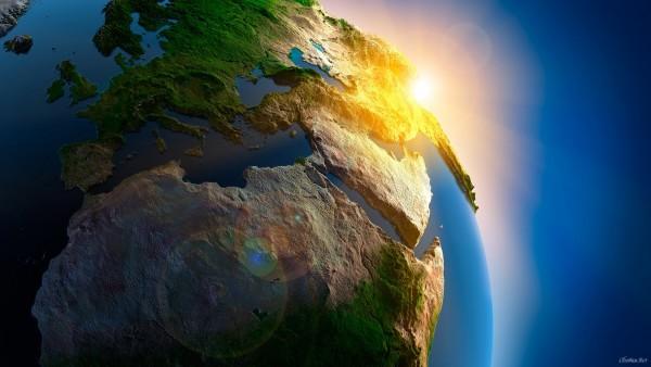 Вид из космоса на Землю обои