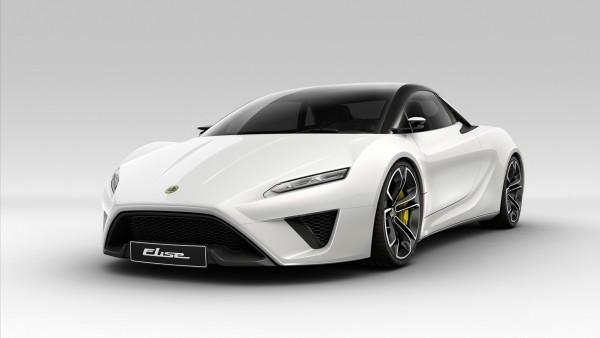 Lotus Elise белый автомобиль обои
