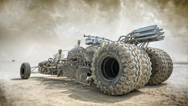 Фэнтези автомобиль в пустыне заставки на рабочий стол