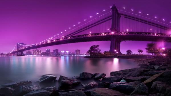 Manhattan bridge new-york city wallpaper high resolution hd