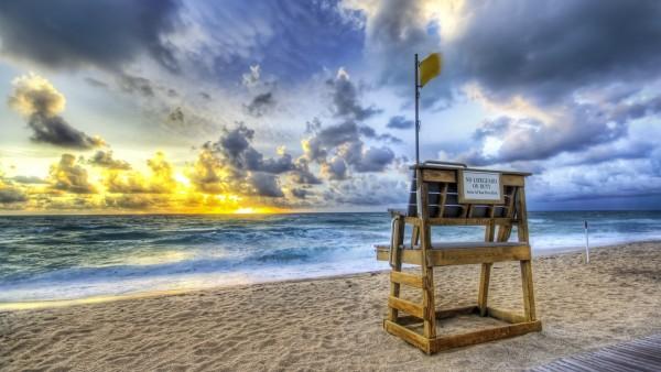 Морской пляж, стул, кресло, песок, море, картинки
