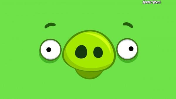 Angry Birds счастливой свиньей искусство обои hd