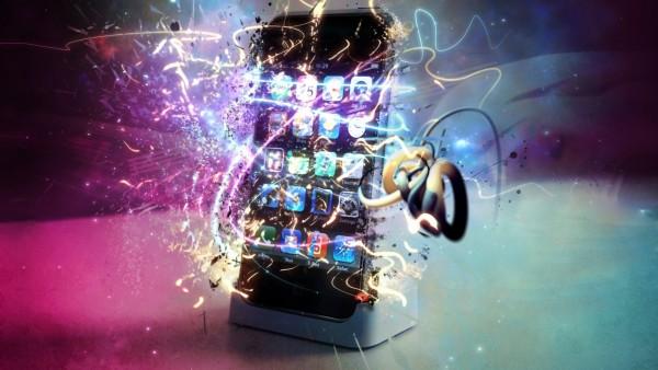 Рисунок современного телефона обои hd