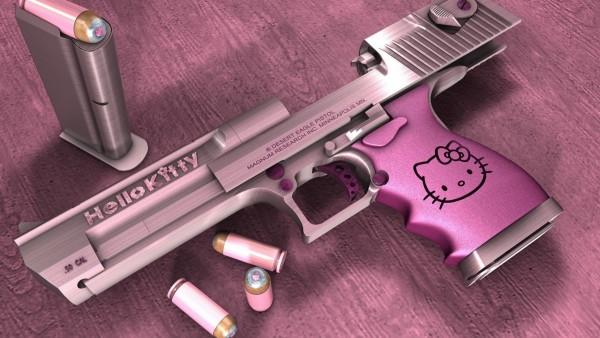 Розовые пистолеты картинки на рабочий стол