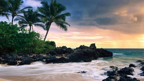 Пляж на Гаваях картинки на рабочий стол