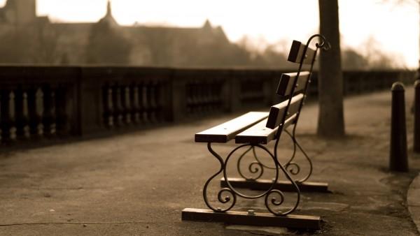 Парк, скамейка, дорога картинки на рабочий стол