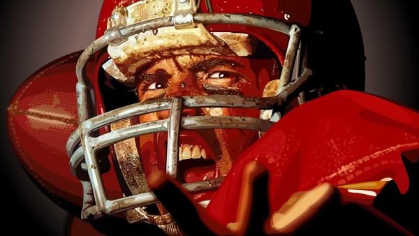 Шлем, спортсмен, футбол, регби, вектор картинки