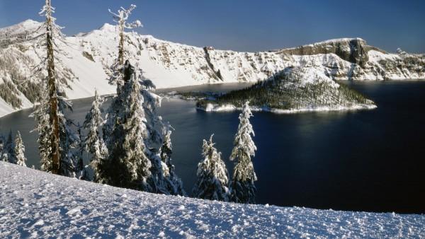 Озеро снежных горах картинки на рабочий стол