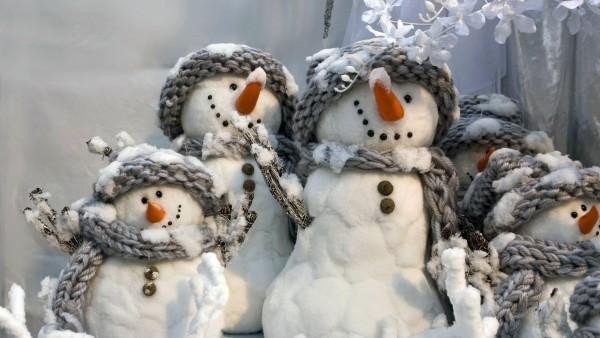 Снеговики семья картинки для рабочего стола