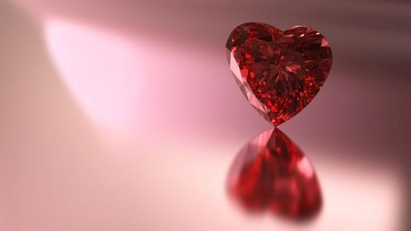 Красный Рубин Сердце картинки для рабочего стола скачать