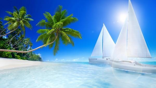 HD обои тропический пляж
