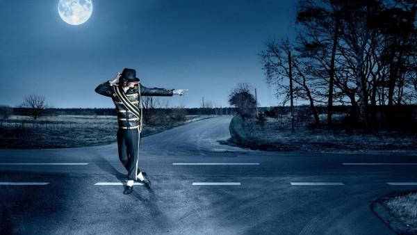 HD обои Майкл Джексон тонцует на дороге