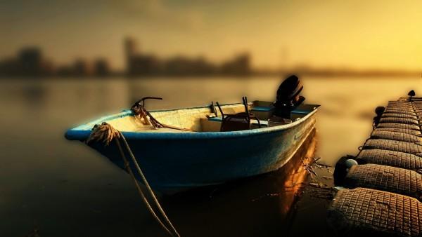 HD обои с лодкой