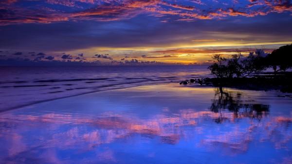 Фото с ночным пляжем