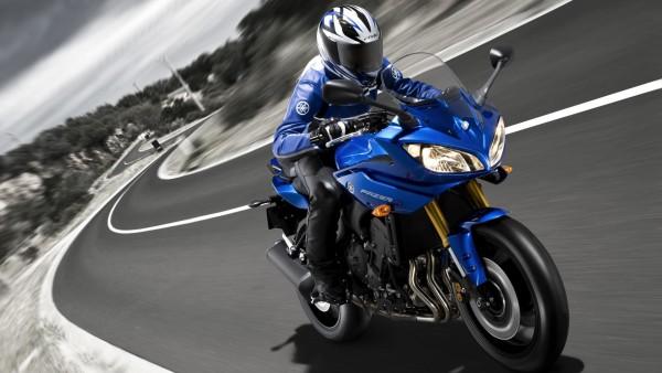 Фото мотоцикла марки Yamaha Father синего цвета скачать