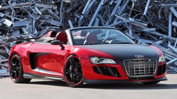 Audi R8, Audi кабриолет, свалка, вид спереди, обои hd, бесплатно