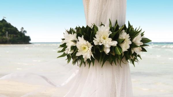 Цветы, гирлянды, пляж, букет, обои hd, бесплатно