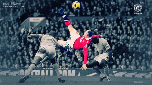 Уэйн Руни удар через себя матч Манчестер сити и Манчестер Юнайтед