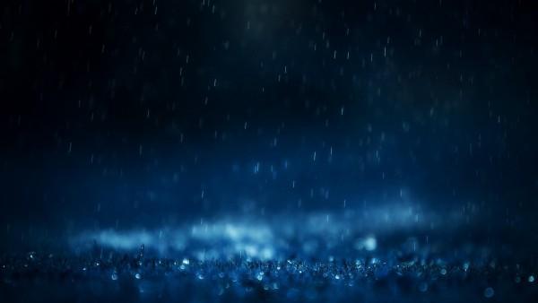 Широкоформатная картинка удивительных капель дождя