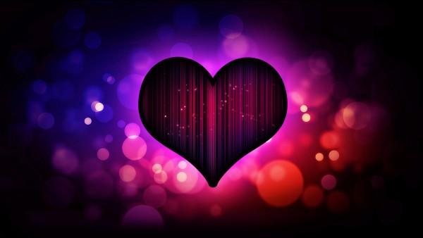 Красивые фоны сердечка заставки, пурпурное сердце обои hd