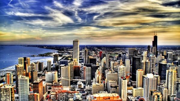 Картинка прелестного и широкого мегаполиса
