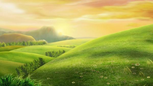 Красивый пейзаж поляна картинки