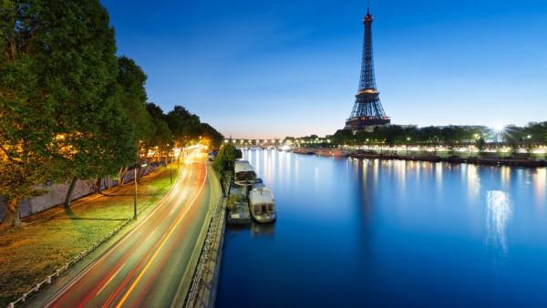 Эйфелева башня в Париже, Франция, широкоформатные обои,  городской пейзаж, картинки
