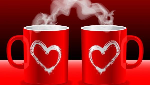 Доброе утро, серце, кофе, Любовь, Love, романтика, картинки, широкоформатные обои, hd
