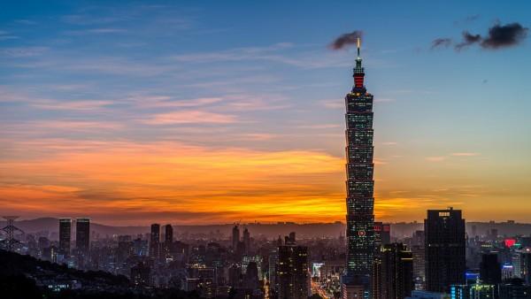 Китай, Тайвань, Тайбэй, башня, вид сверху, фоны, заставки
