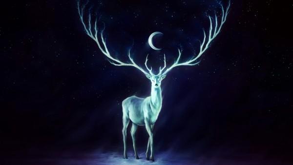 Потрясающий рисованный олень