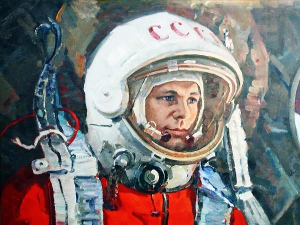 Юрий Гагарин, космонавт, СССР, скафандр, широкоформатные обои, hd