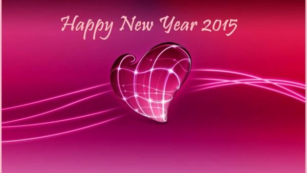 Лучшие 3D обои HD любовь изображение с сообщением на новый год 2015