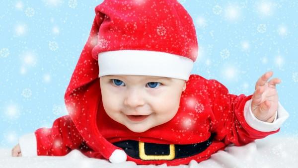 Милый, маленький, мальчик, Санта, малыш, ребенок, картинки, заставки