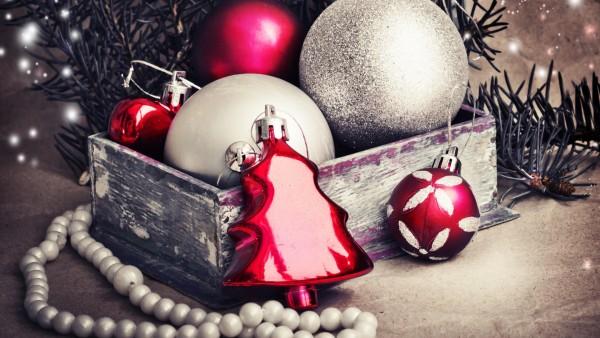 Праздники, Рождественские украшения, шарики, обои hd, картинки