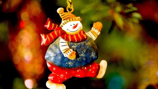 Праздники, Рождественские игрушки, Снеговики, елка, обои hd, картинки