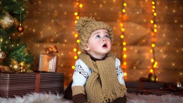 Милый ребенок, Новый год, праздник, Рождество, малыш, фото, картинки