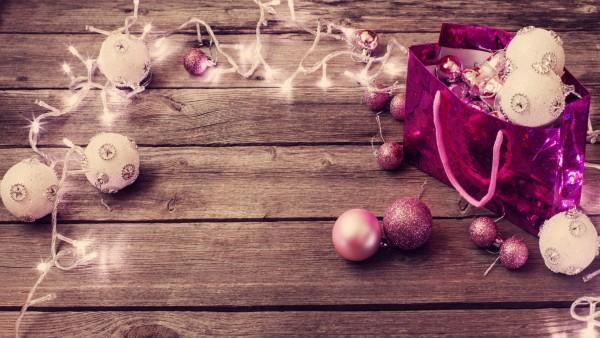 Фото HD, Праздники, Рождественские шары, гирлянды, Новый год
