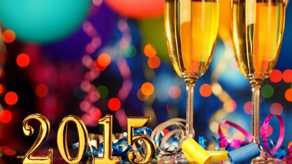 Новый год, 2015, бокалы для шампанского, праздник, фото