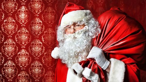 Санта-Клаус, сумка, Рождество, подарки, очки, борода, Новый год, обои, картинки