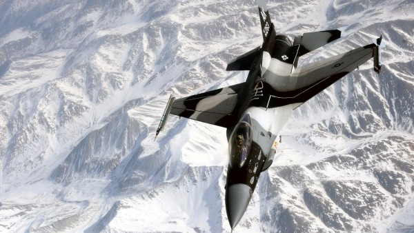 Wallpaper AK 263 Fighter Jet on Ice Mountain