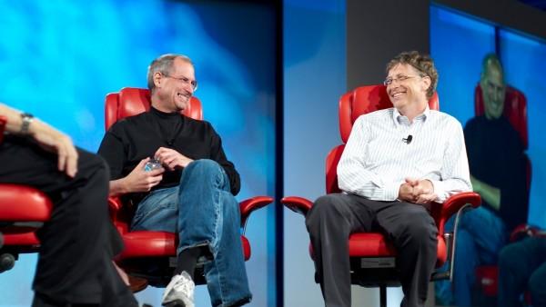 Стив Джобс и Билл Гейтс фото обои