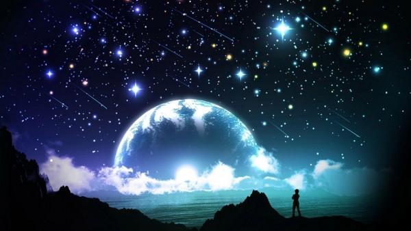 Яркое ночное небо 3D