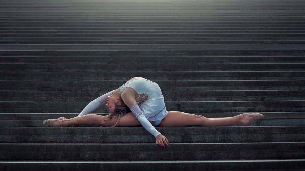 Océane Charoy, гимнастика, шпагат