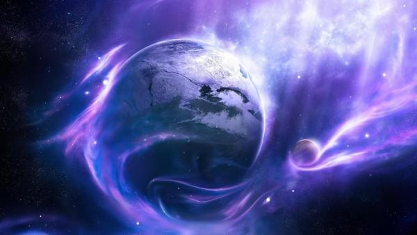 фиолетовая галактика