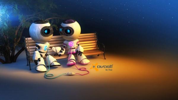 Аваст антивирус, роботы, пара