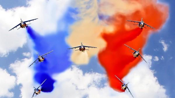 Французский флаг, авиашоу